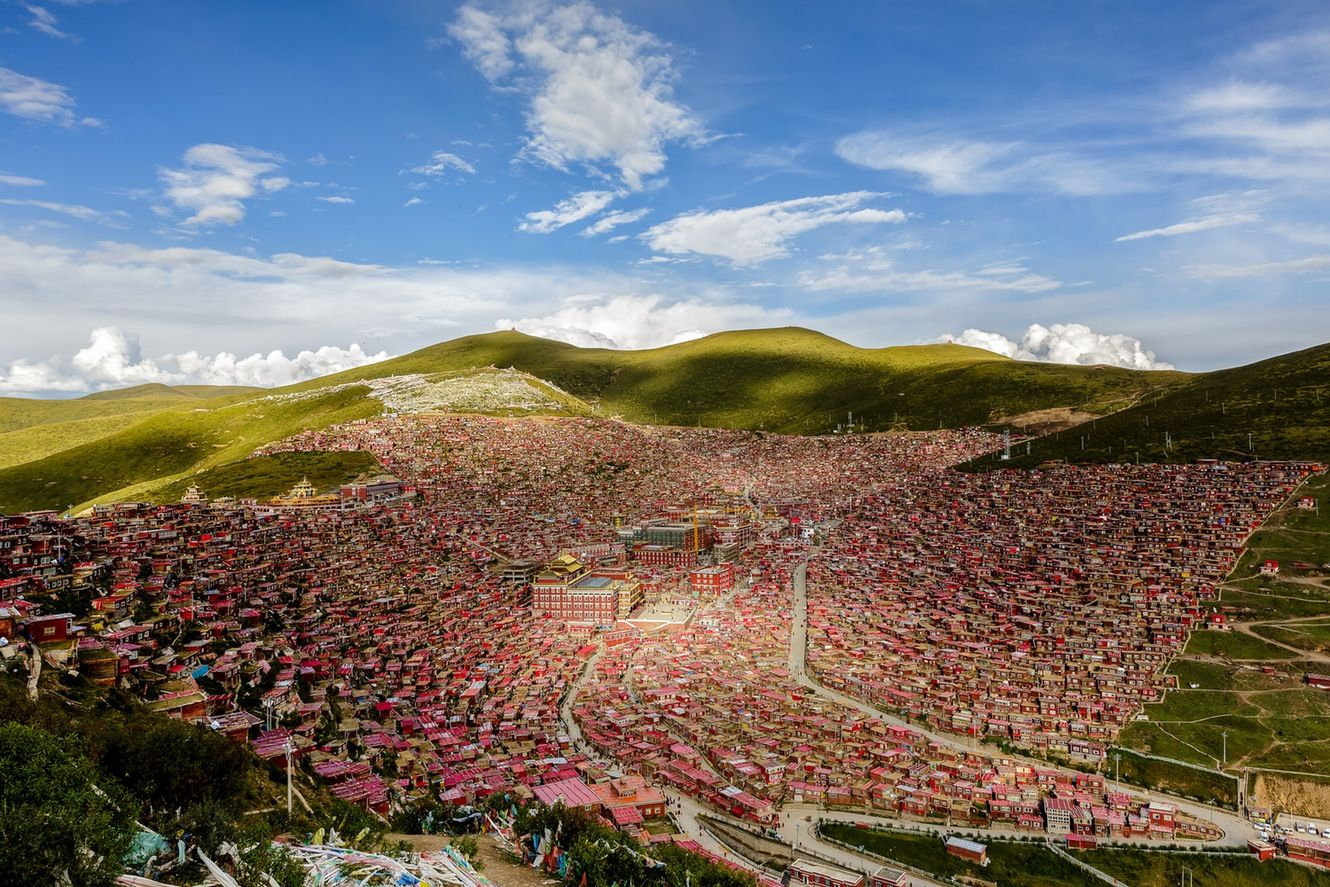 High on a plateau, Tibetan Buddhism has  found unlikely new centres of gravity under  China's wary glance.