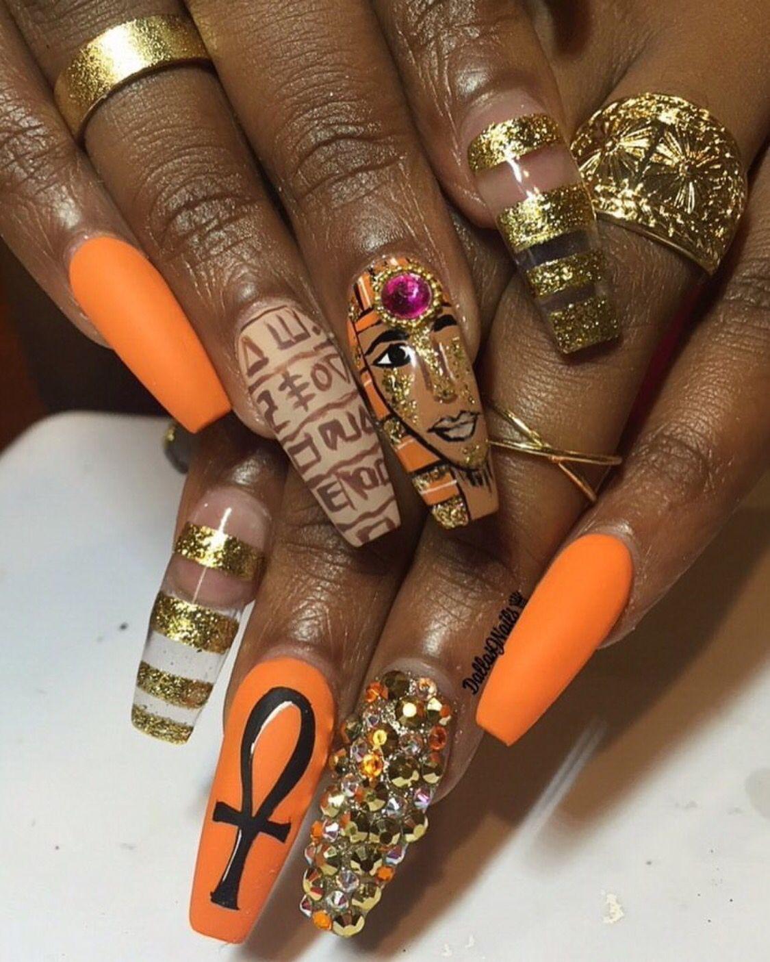 egyptian nails tatts