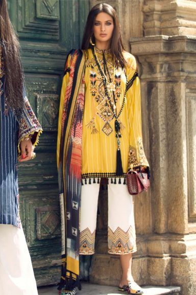 Elan Lawn Spring Summer Collection 2018 Luxury Designer Lawn Suits is part of lawn Design Pakistani - Elan Lawn Spring Summer Collection 2018 2019 consists of perfect designs of Luxury Pakistani Designer Lawn Suits must have for a summer season