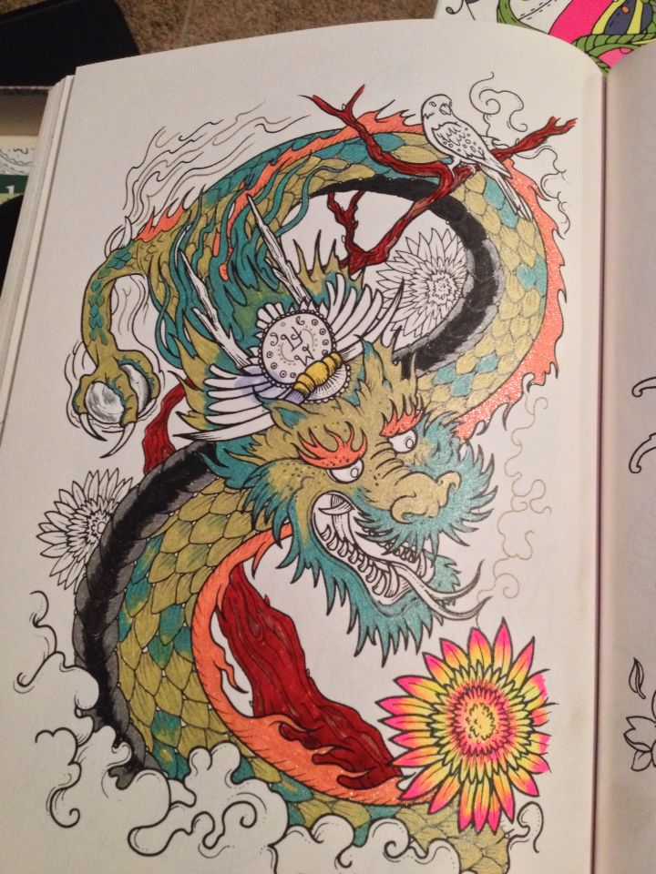 Coloring Book Tattoo