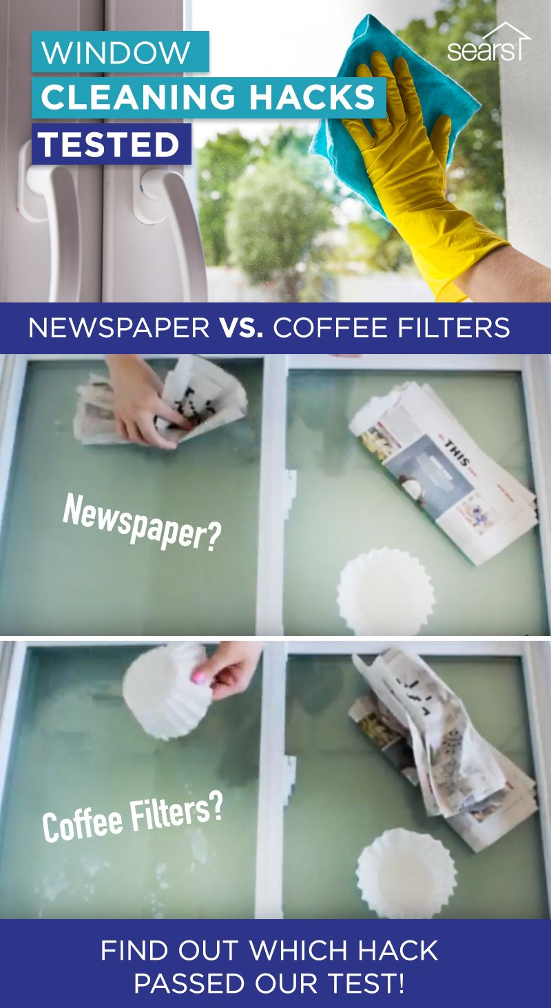 Do coffee filters and newspaper actually work to clean