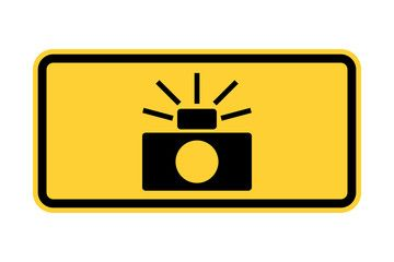 Traffic enforcement cameras road sign