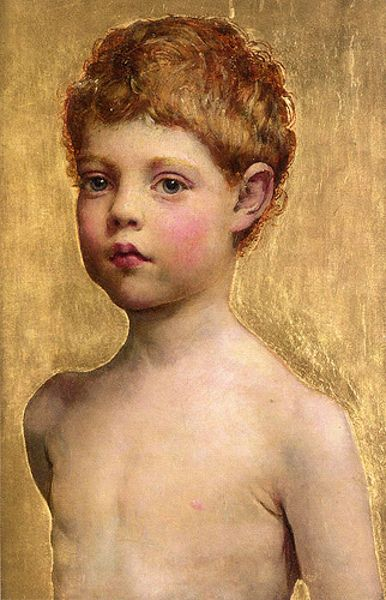 Anna Louise Swynnerton - Portrait Of A Boy (1844 – 1933, English)