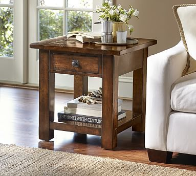Benchwright 24 Square End Table In 2020 Sofa End Tables Reclaimed Wood Console Table Rustic Side Table