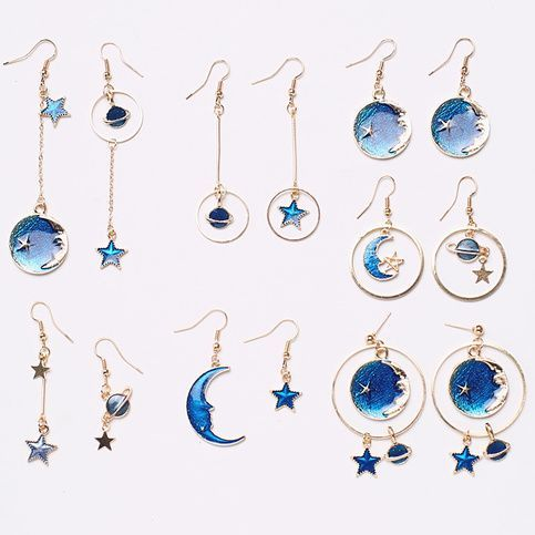 5305f6baa Planet Moon Star Earrings (10 Styles) | Jewelry, Shoes & Accessories ...