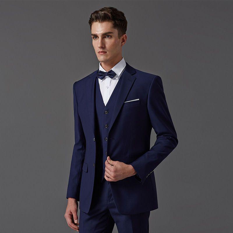 Find More Suits Information About Custom Made Dark Blue Men Suit Tailor Made Suit Bespoke Light Navy Blu Long Hair Styles Men Blue Suit Wedding Blue Suit Men