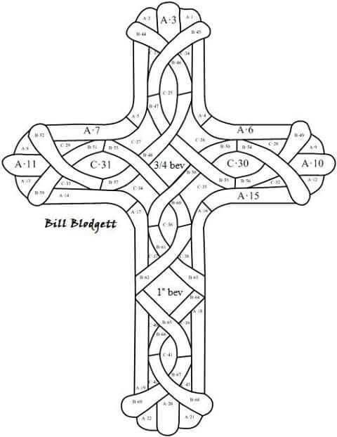 More Stained Glass Patterns Cross Coloring Page