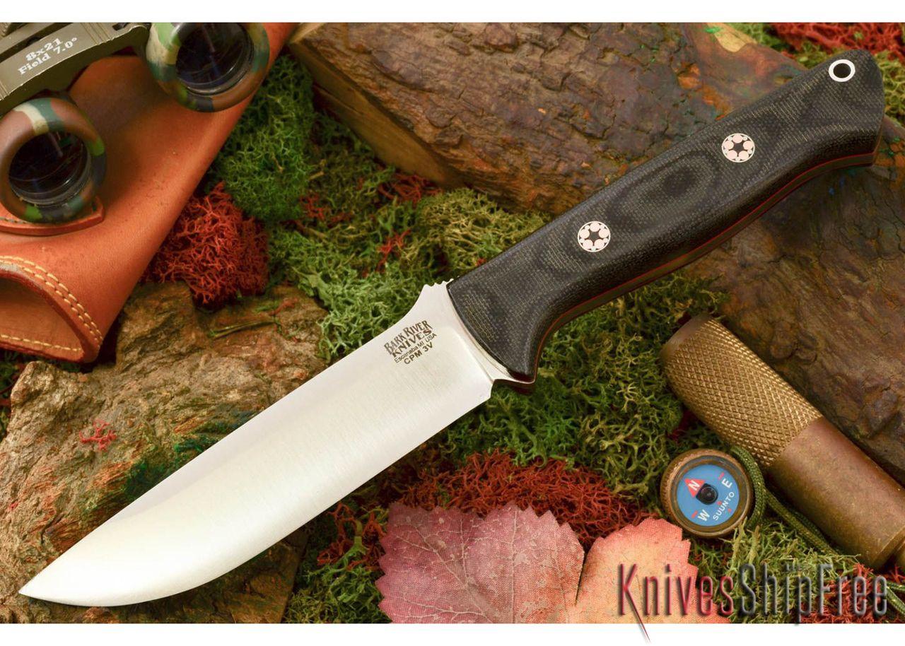 Bark River Knives: Bravo 1 25 LT - CPM 3V - Black Canvas Micarta