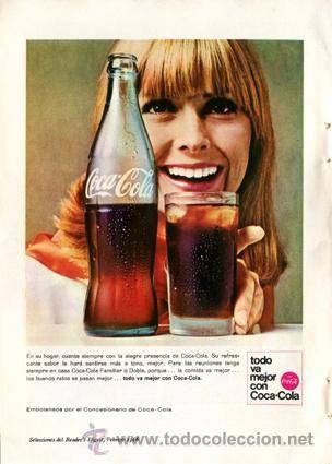 Página Publicidad Original *COCA-COLA*  Año 1966   Coca Cola