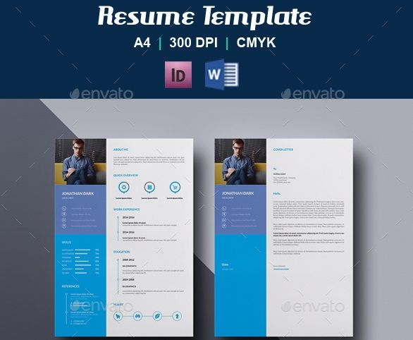 Resume Template V23Design Devisers Clean Resume Template Instant - information templates word