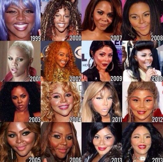 The Many Faces Of Lil Kim Lil Kim American Rappers Plastic Surgery