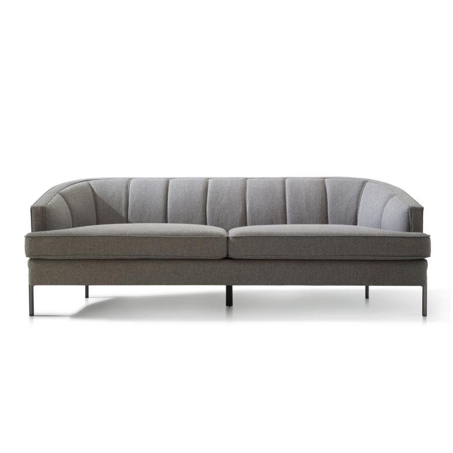 Chic Home Design Astoria Modern Dark Grey Linen Sofa Fsa9370 Lw In