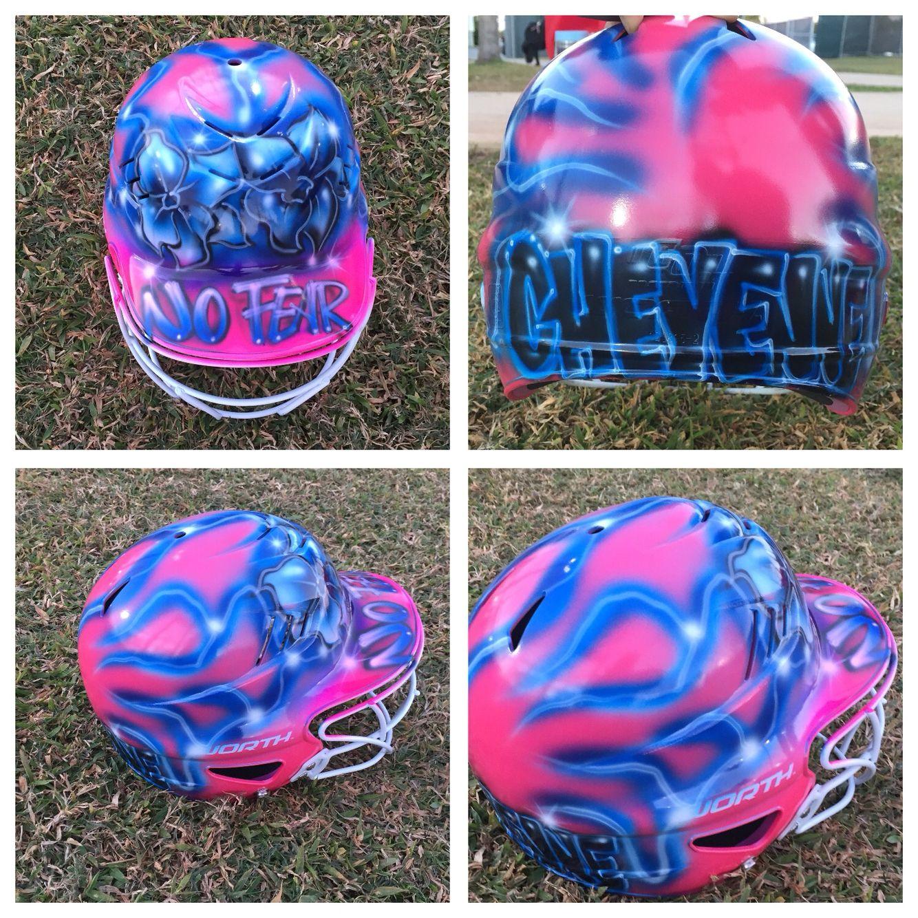 Softball Helmet Airbrush Individual Design My Softball Girl Softball Helmet Softball Gear Girls Softball