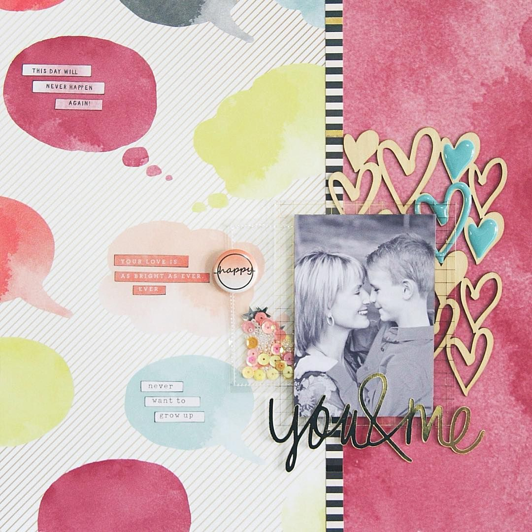 Layout published in the latest Scrapbooking Memories