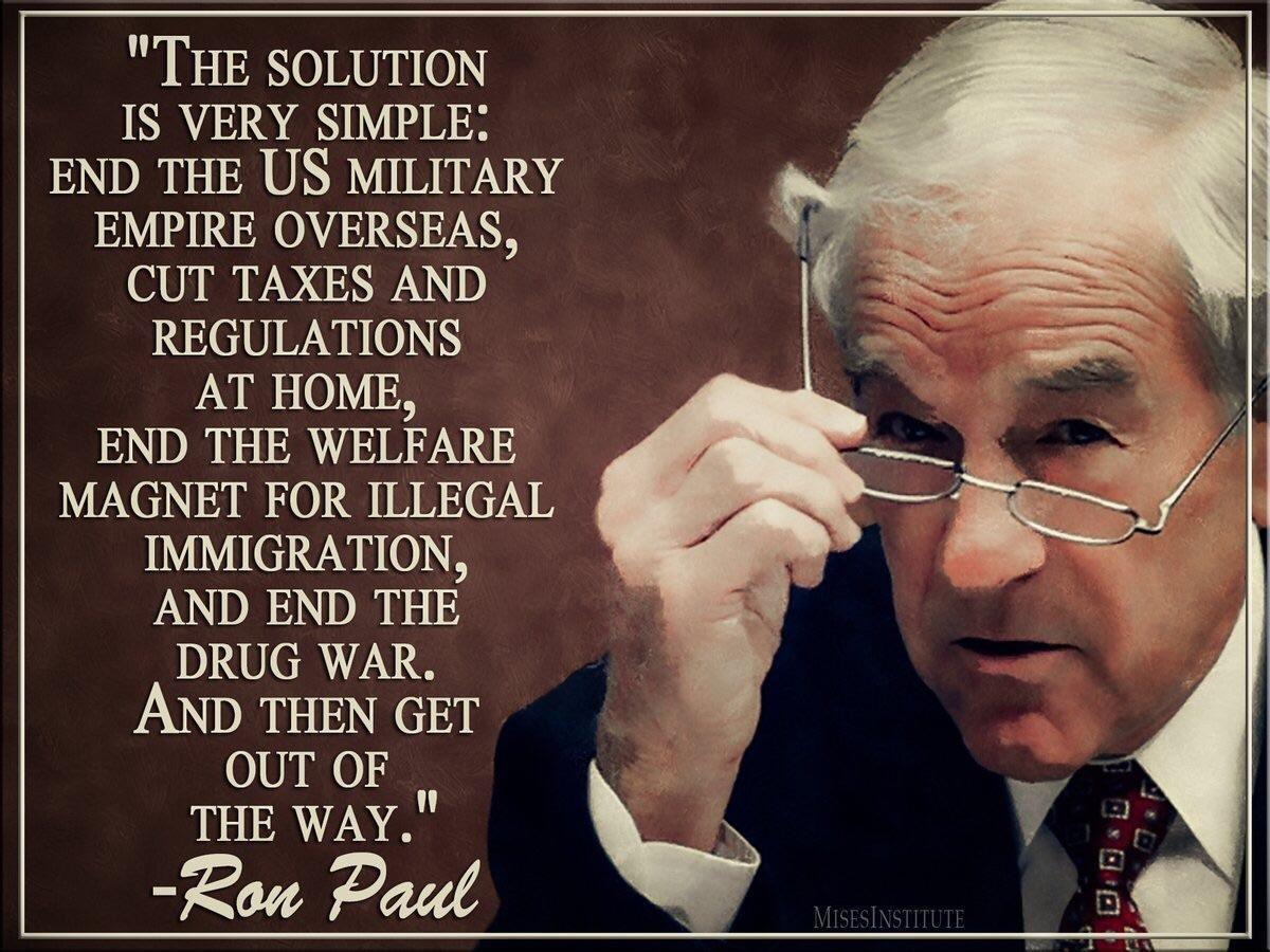 Ron Paul Ron Paul Inspirational People Libertarian