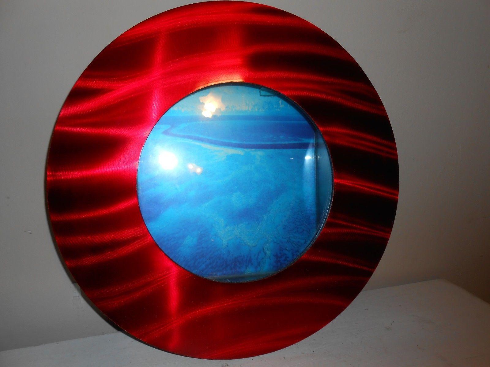 Red Metallic Wall Hanging Fish Tank Aquarium Plasma Flat Screen