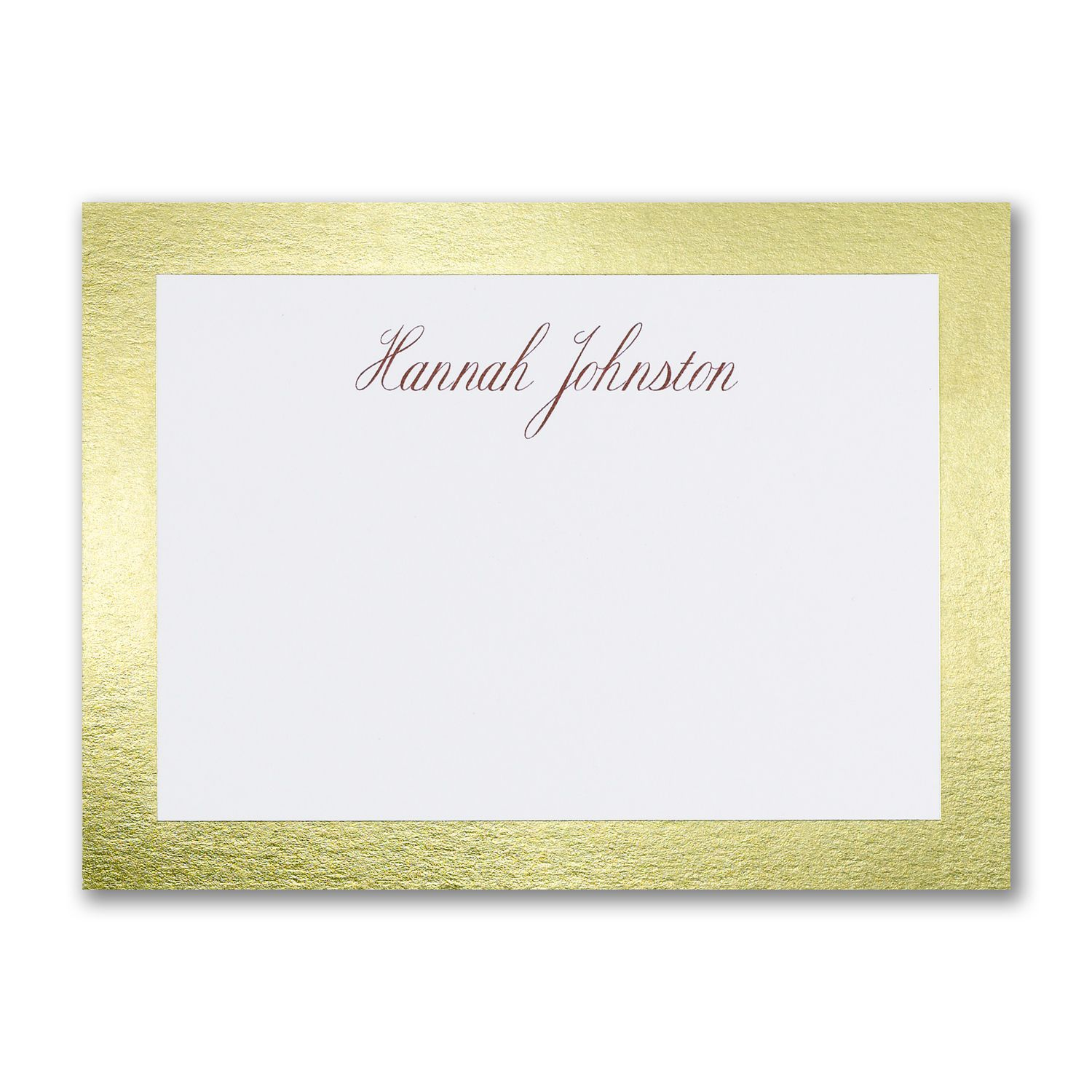 Gold Border Shine Personalized Note Cards http://partyblock ...