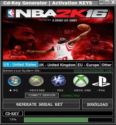 nba 2k16 activation key for pc free