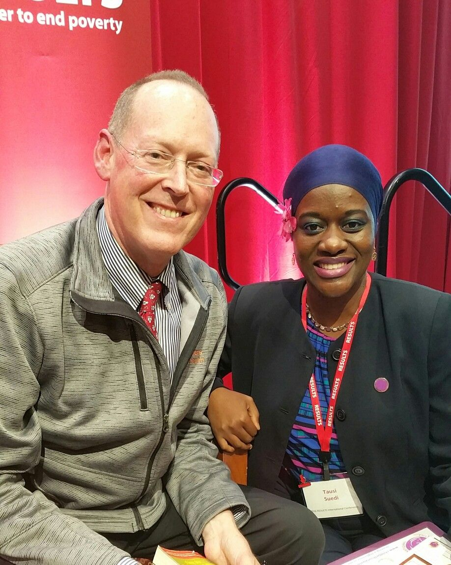Dr Paul Farmer With Tausi Suedi Team Leader Conference Leader