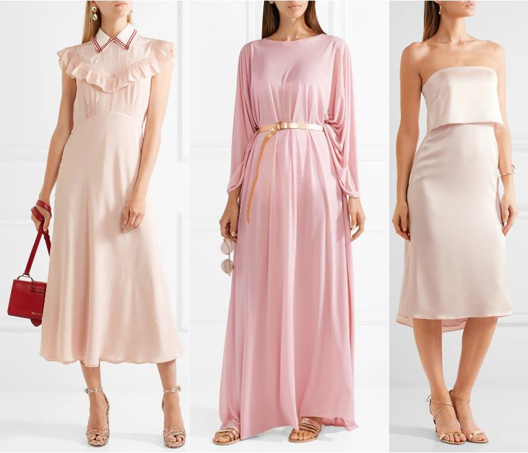 Pastel Pink Dress What Color Shoes with