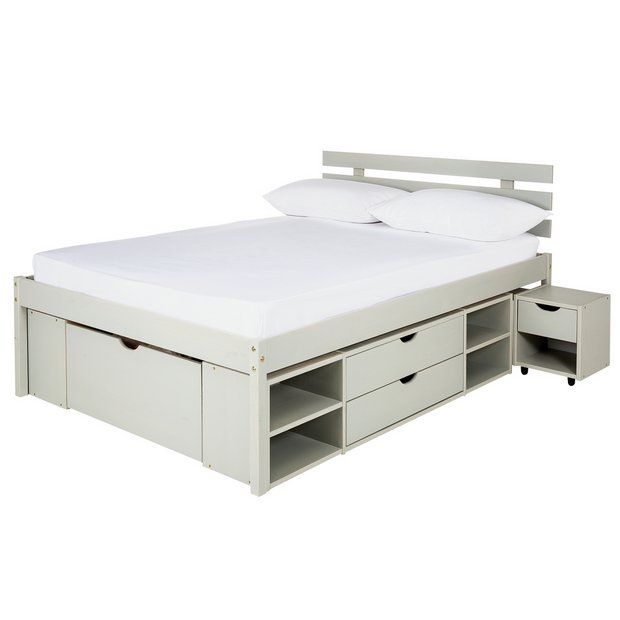 Buy Argos Home Ultimate Storage Grey Small Double Bed