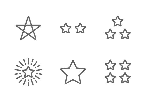 Star Icons By Nanmulti Sanhawan Stars Icon Icon Design