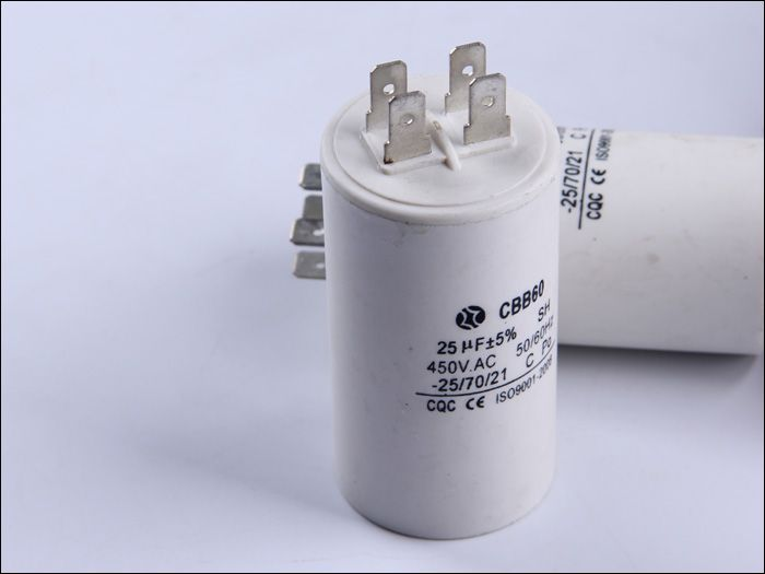 Free Shipping Running Capacitor Two Pins 1pcs 450v 25uf Motor Start Capacitor Cbb60 Motor Capacitor Capacitors Flask Lights