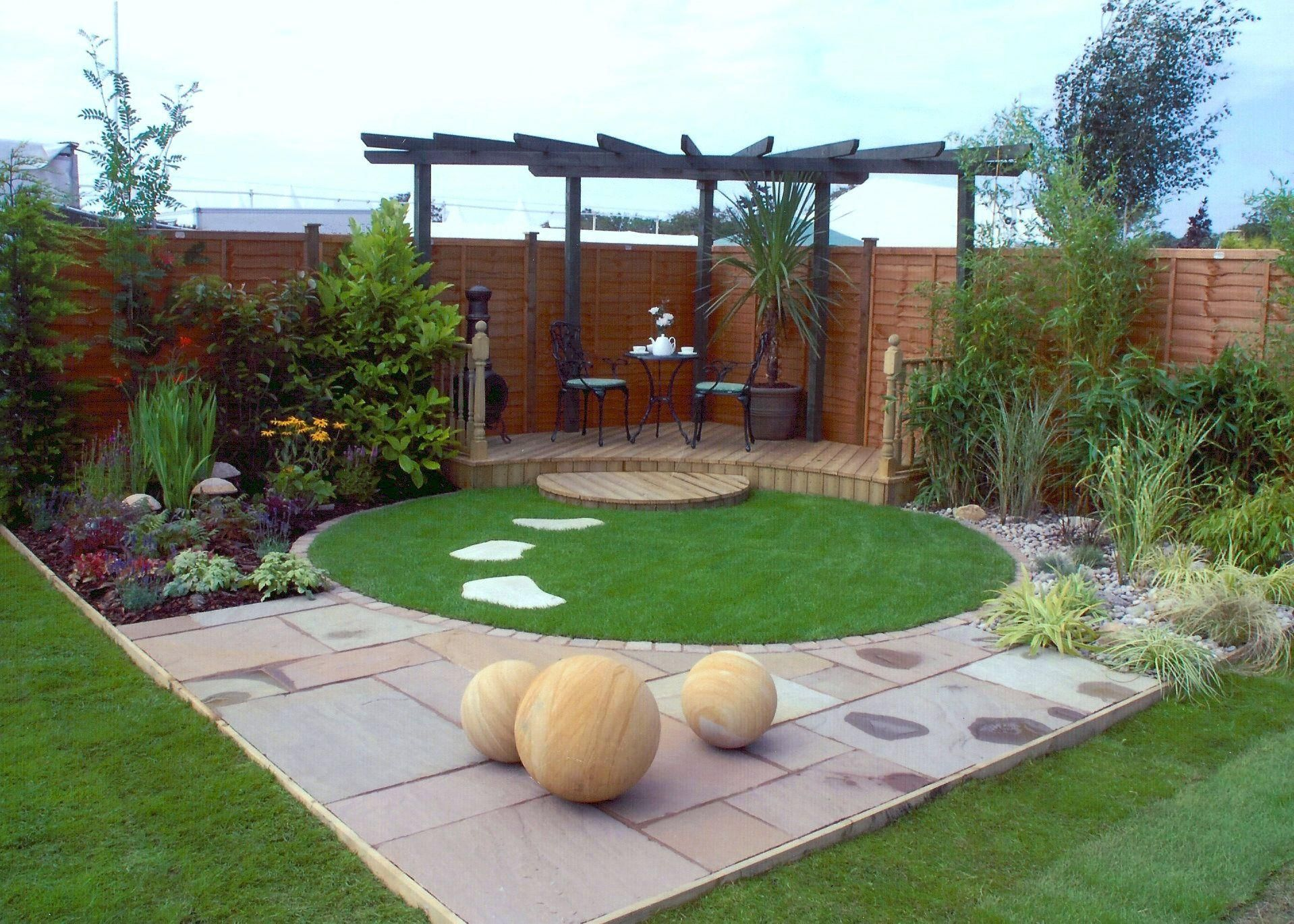 Small contemporary garden google search landscaping for Modern garden decking designs