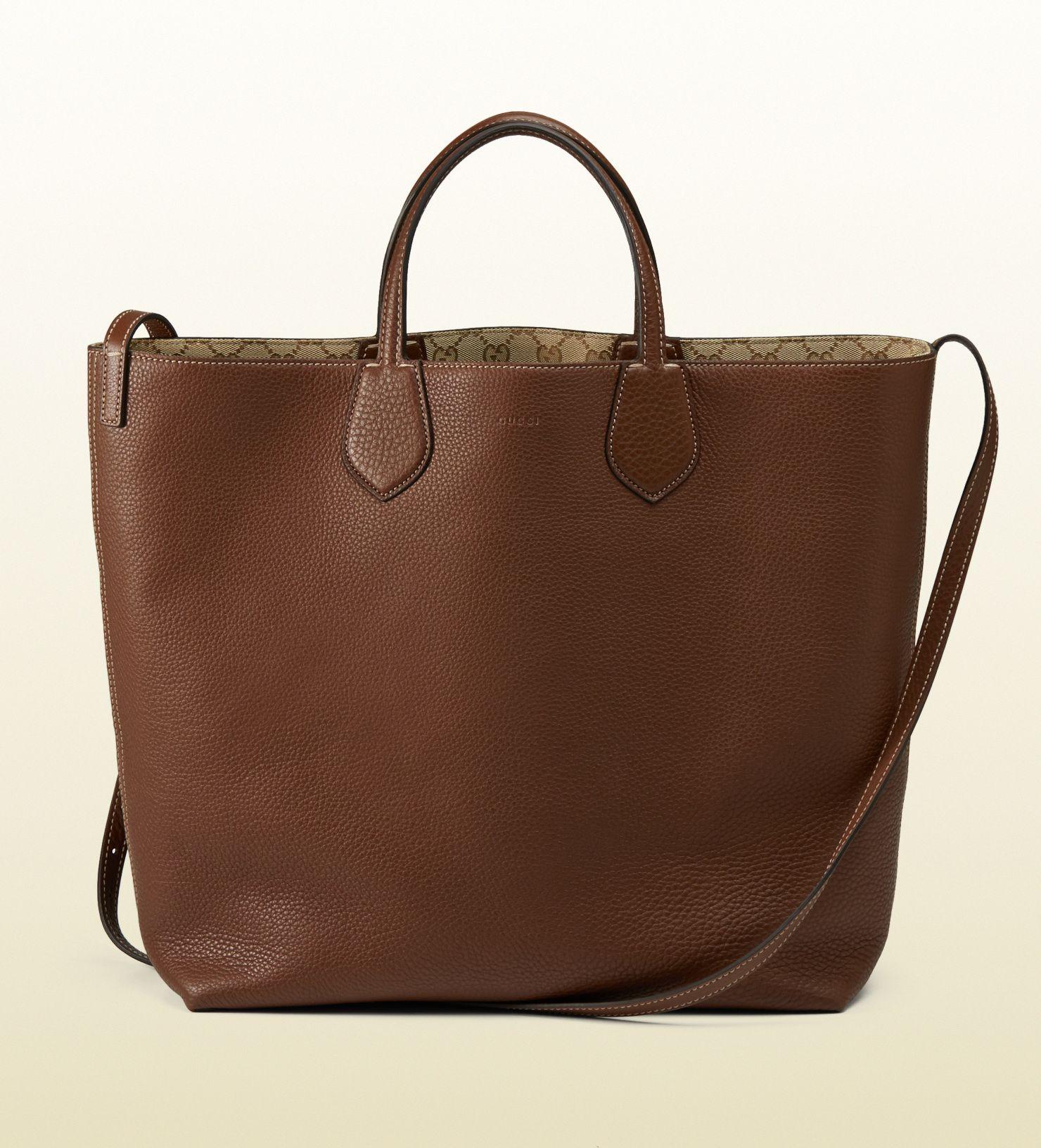 3e5e75e68c6e gucci ramble reversible leather and original GG canvas tote | GET A ...