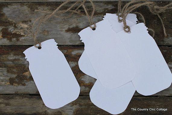 Medium Mason Jar Tags set of 6 by CountryChicCottage on Etsy, $5.00