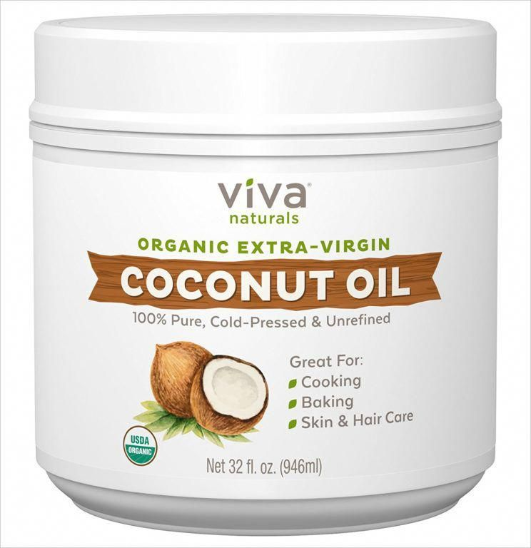 VIVA Organic Extra-Virgin Coconut Oil - Amazon skin care best seller in their skin and hair care categories #normal #coconutoilskin #organichaircare