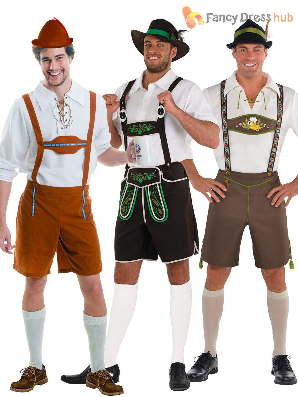 Alpine Bavarian Men/'s Fancy Dress Costume