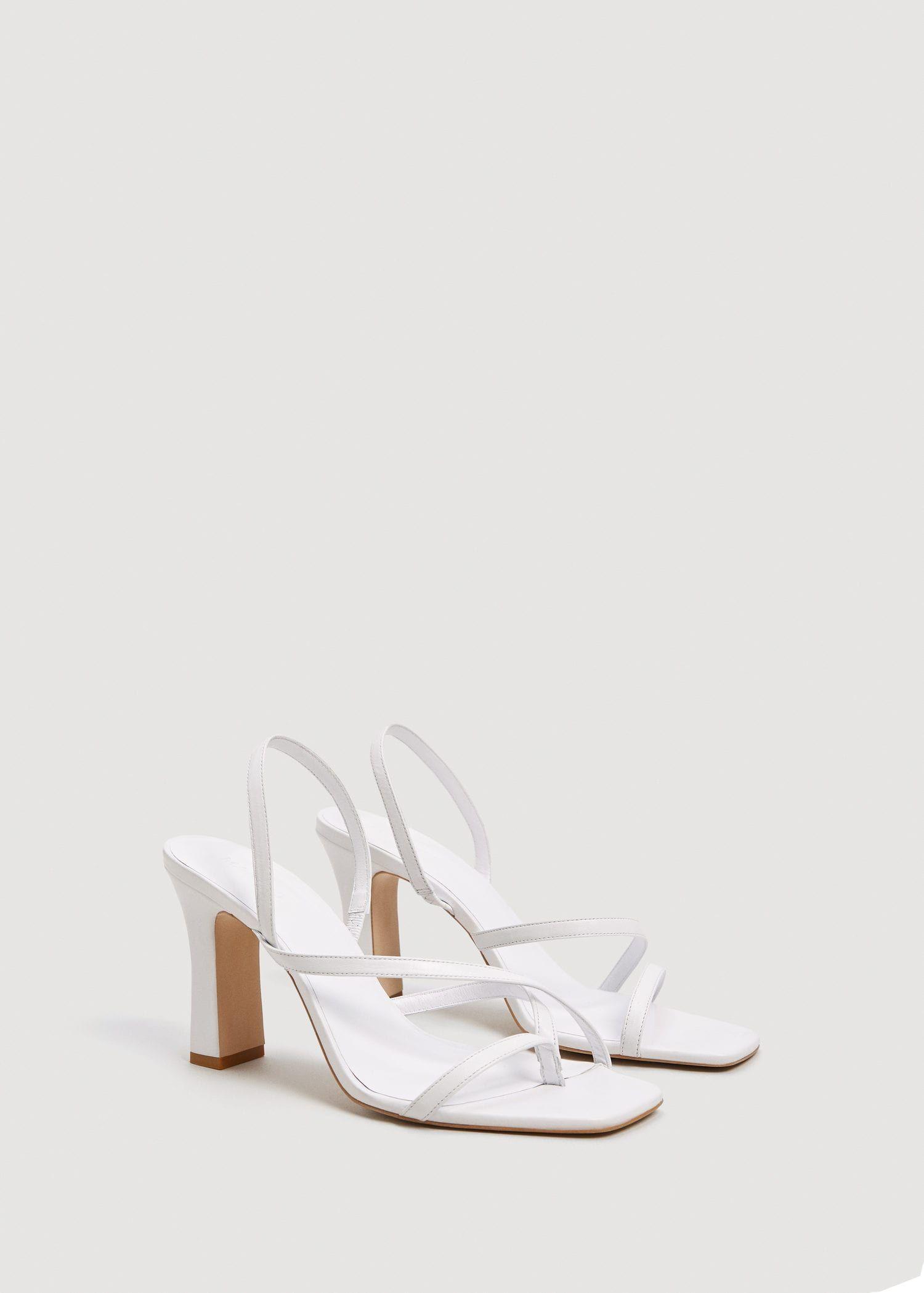 Leather wrap sandals - Women   Mango