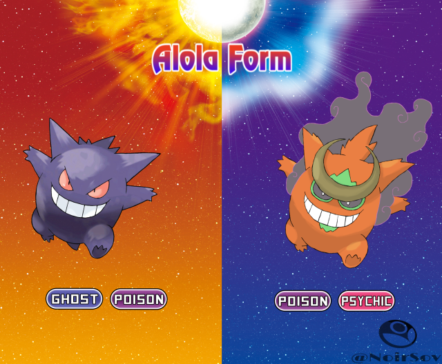 Alolan Gengar | ALOLAN POKEMON | Alola forms, Pokemon