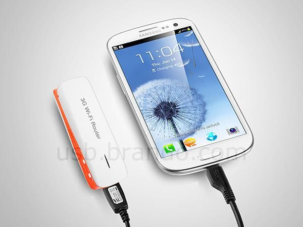 Multi Functional Mobile Wireless Router with Backup Battery