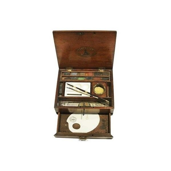 Reeves Sons Mahogany Watercolour Box found on Polyvore