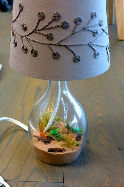 Dinosaur Diorama Lamp Dioramas, Terrario y Miniatura - Lamparas Caseras