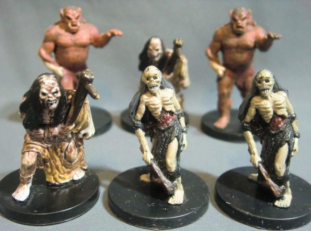 Dungeons dragons miniatures lot zombie food scouting