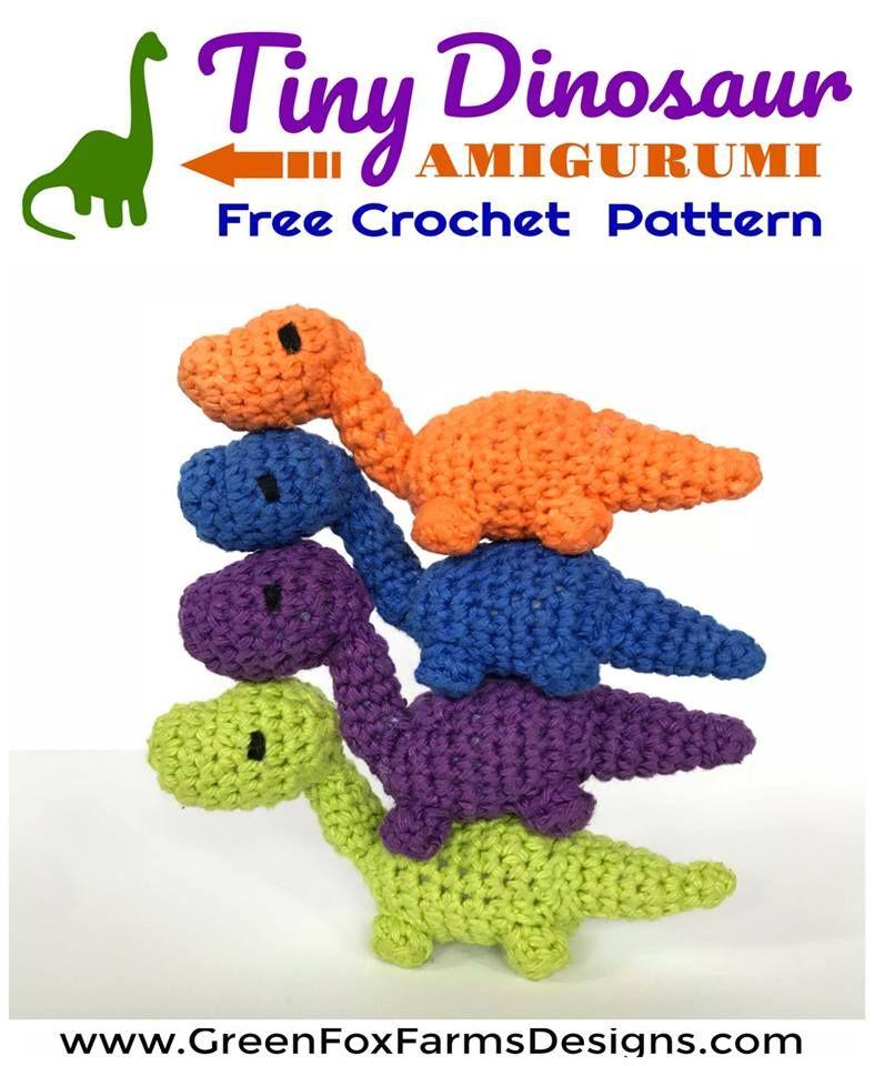Tiny Dinosaur Amigurumi - Free Pattern | Crochet By Others | Pinterest