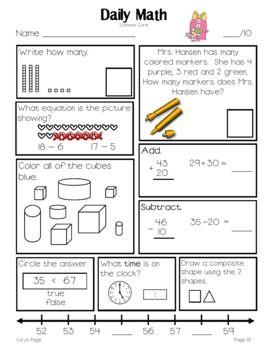 Example Daily Math Grade 1 Term 4 Tpt Daily Math Math Grade 1 Grade maths worksheets term 1