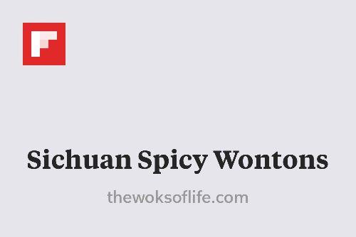 Sichuan Spicy Wontons http://flip.it/eP4X6