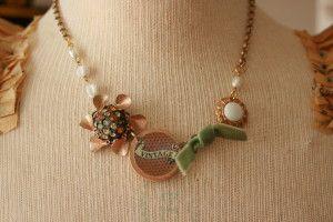 caramel apple girls necklace @sweetshoppejewelrystore.com #handmadevintagejewelry