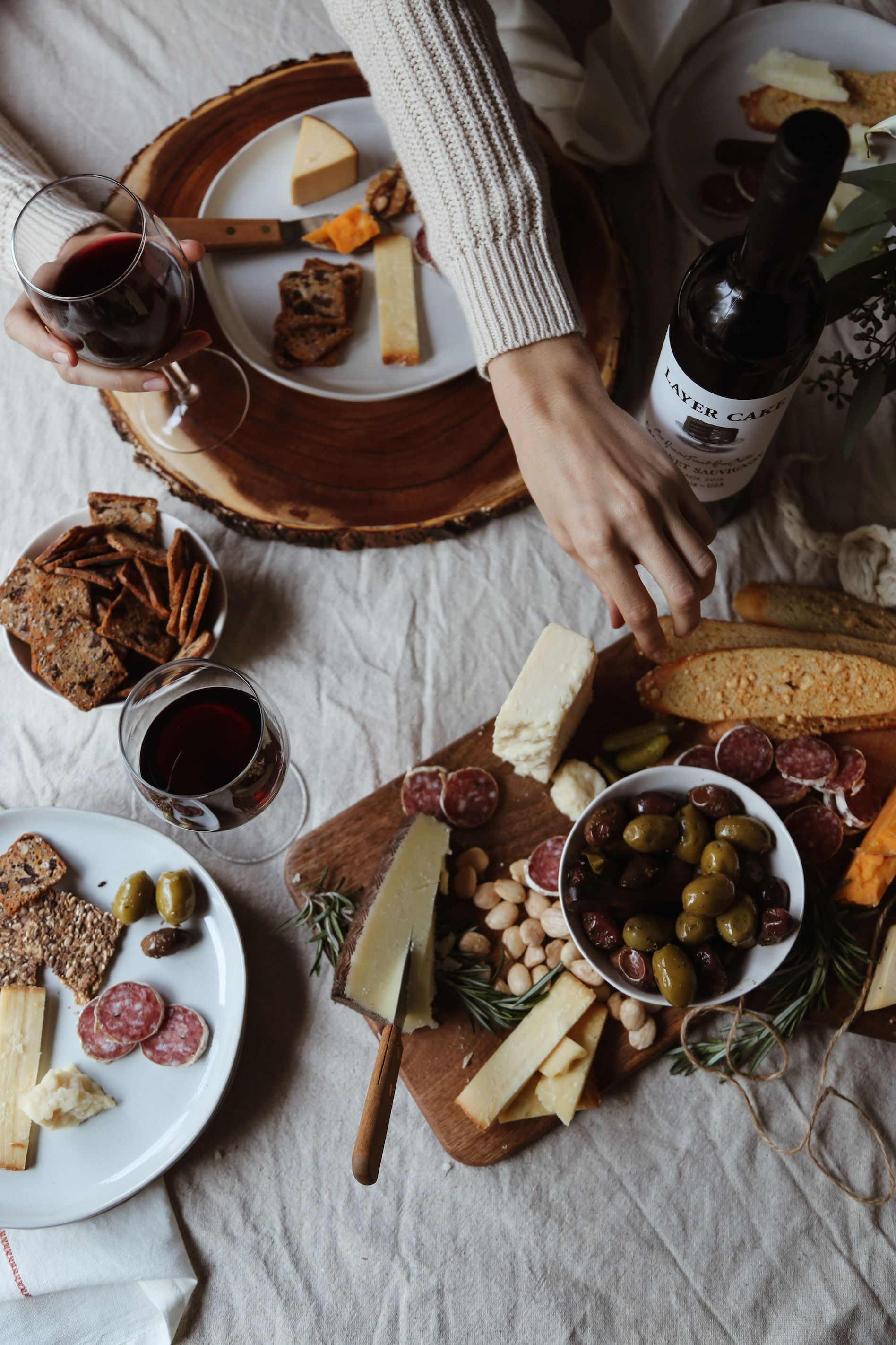 A fall wine cheese tasting party wine food pairing