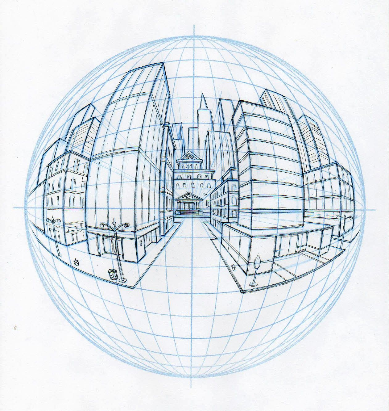 Art of Starnes: Perspective. These are sample diagrams created for my perspective drawing classes at the Academy of Art University.