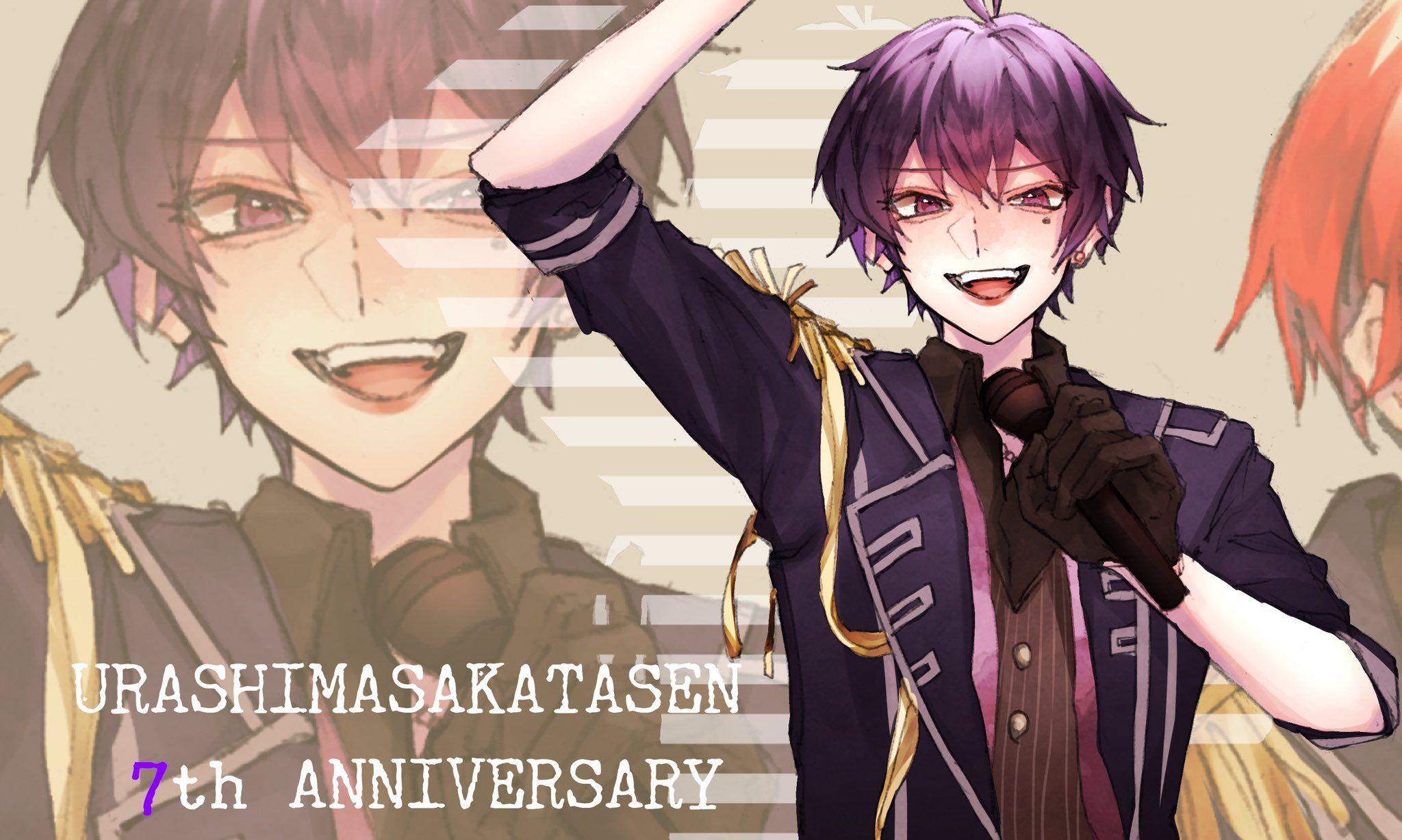 座敷鷹 on twitter 7th anniversary anime base sakata