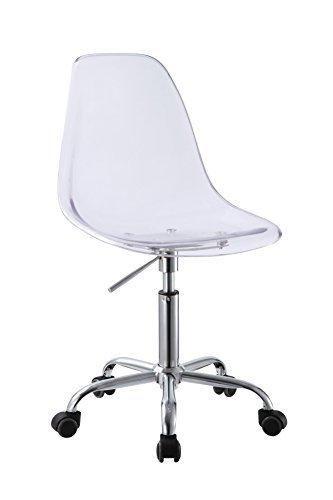 Retro Acrylic Hydraulic Lift Adjule Height Swivel Office Desk Chair Clear 3801 5