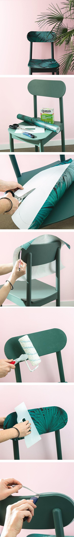 Diy Chaise Decorative Avec Des Chutes De Papier Peint Wallpaper