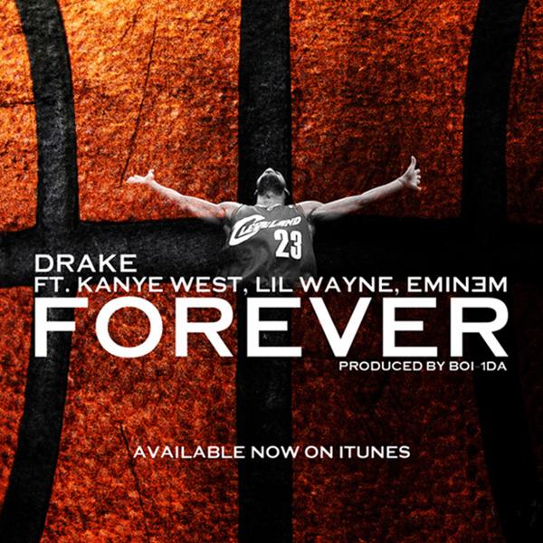 Drake, Kanye West, Lil Wayne, Eminem – Forever (single cover art)