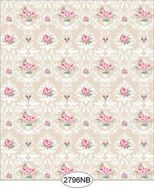 Dollhouse Miniature Wall Paper Sticker Vine WIth Flower 1Roll 45cm x 10m #OW001