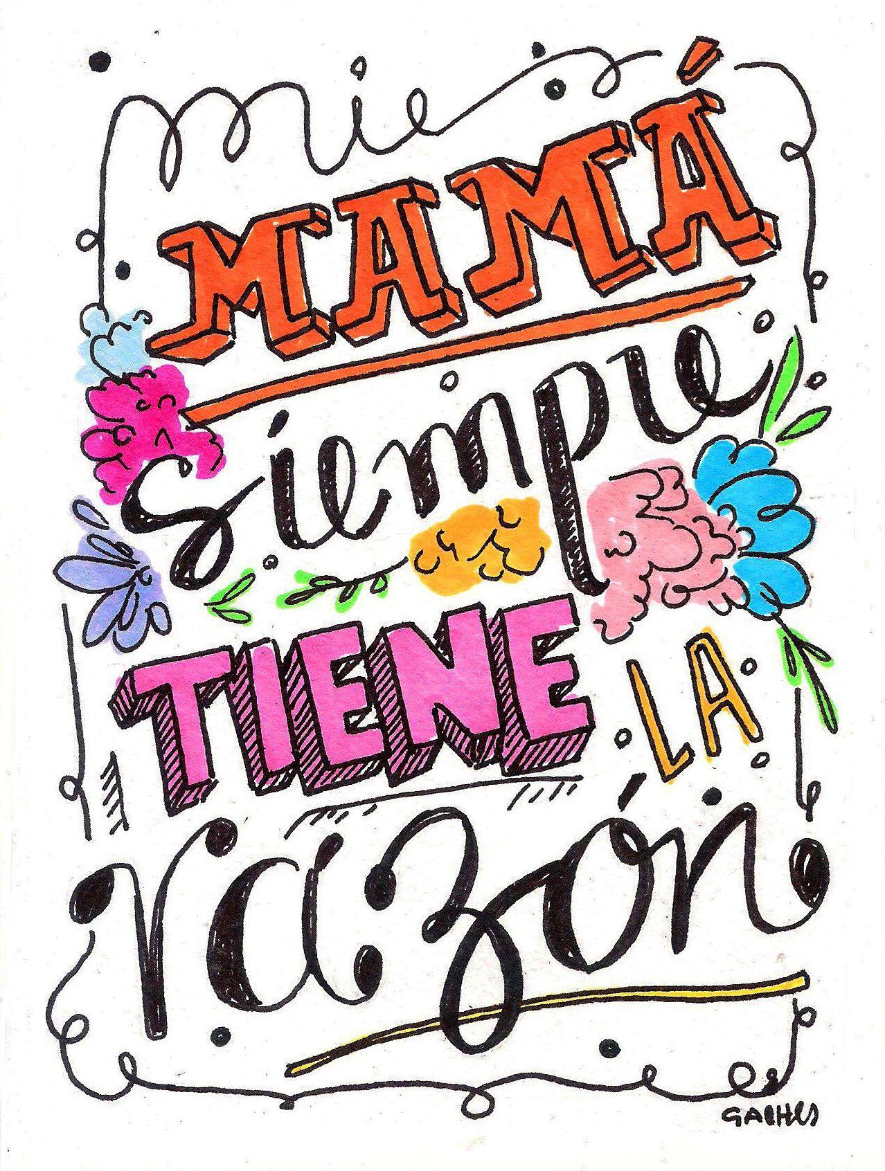 Pin de Gissella en imagenes pintar | Pinterest | Mi mamá, Puños y ...